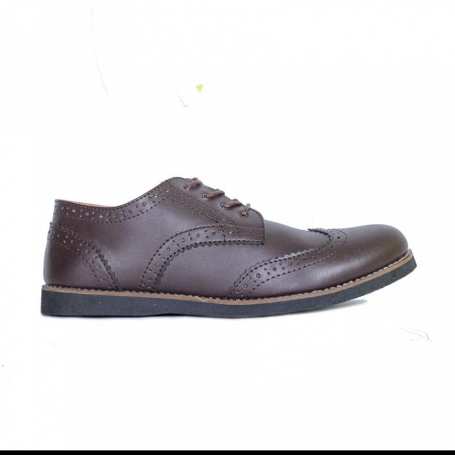Lvnatica Sepatu Pria Pantofel Alpha Brown Formal Shoes
