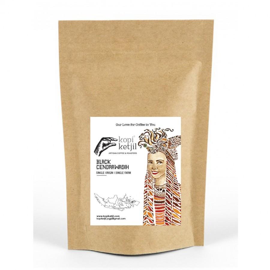 Black Cendrawasih Ground Coffee Beans
