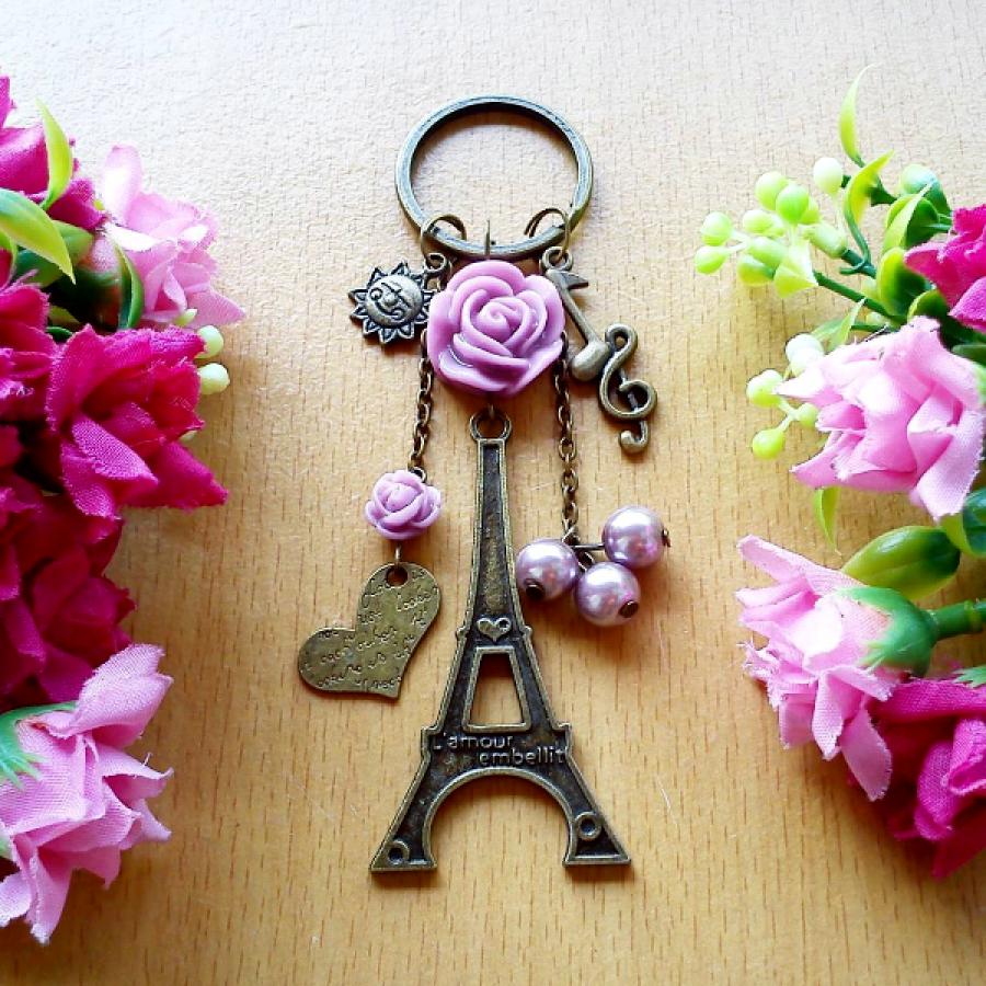Gantungan Kunci Heart Of Paris Ku Ka Kontak
