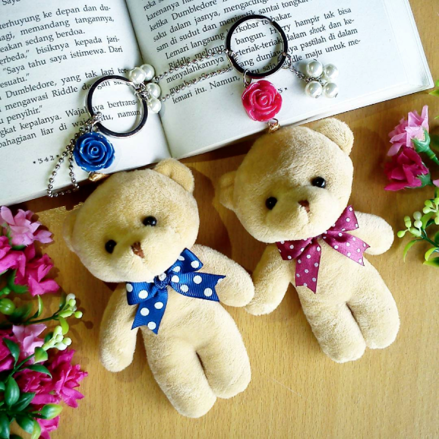 Gantungan Kunci Bagcharm Teddy Bear