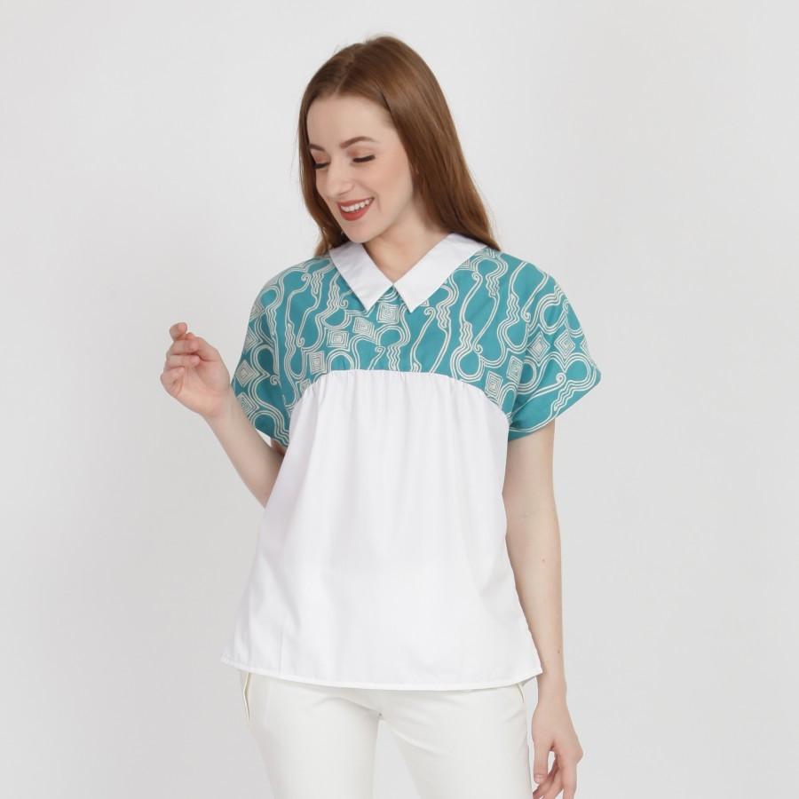 Batik Dirga Bonita Atasan Wanita / Blouse Batik - Green