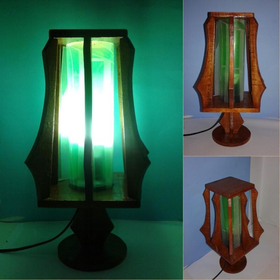 Lampu Meja / Lampu Hias / Lampu KOTAK Variant Warna HIJAU / Omah Lampu Rawalo