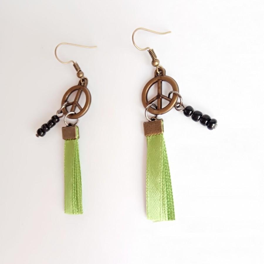 Peace 001 Earring Anting Handmade