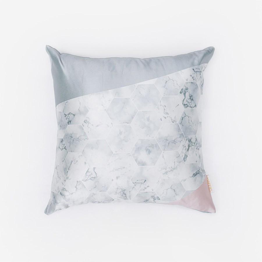 SIlver Hex Cushion 40 x 40
