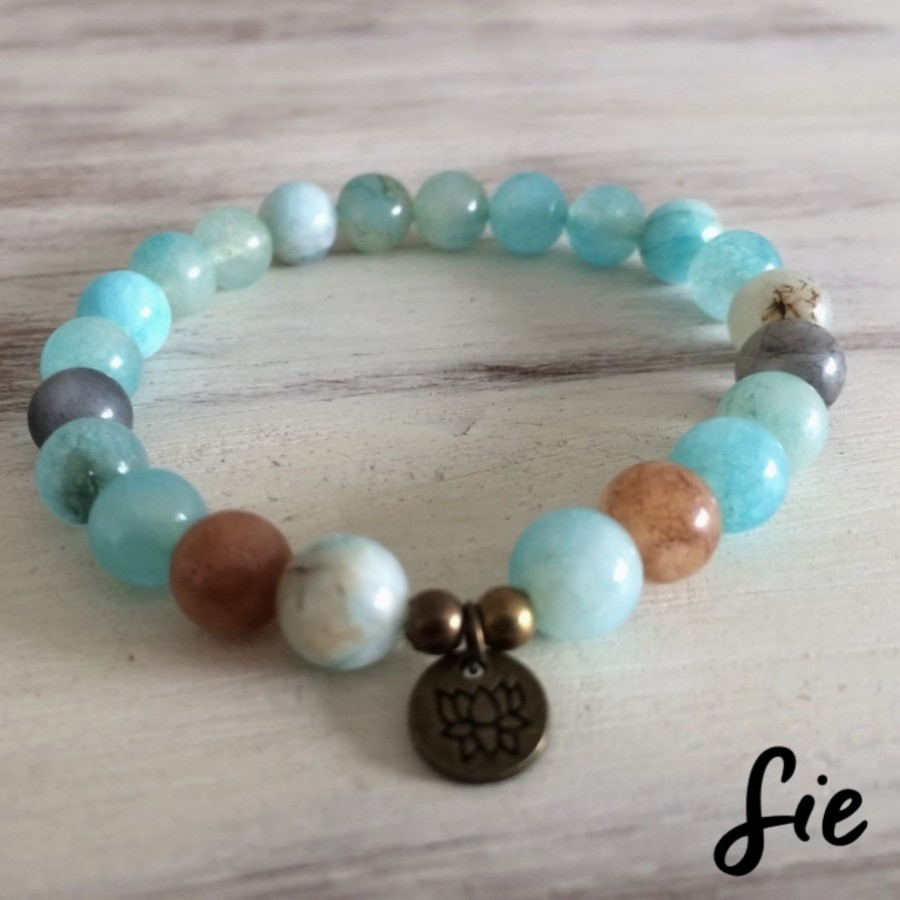 Gelang Amazonite Lotus
