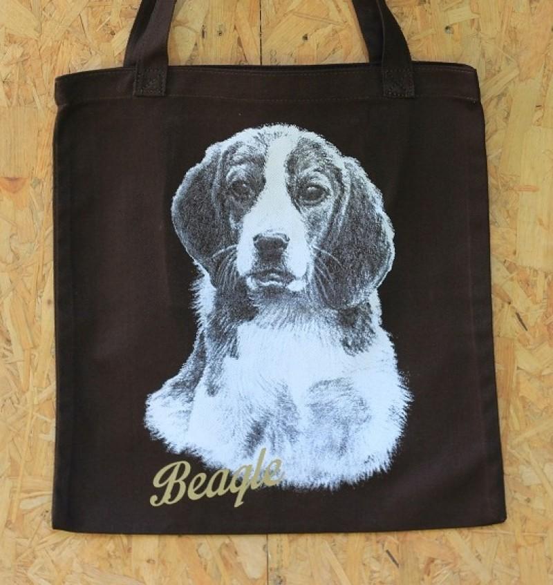 Drawing Tote Bag - Beagle