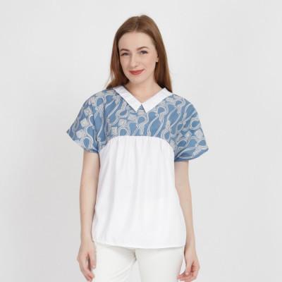 batik-dirga-bonita-atasan-wanita-blouse-batik-blue