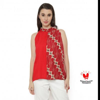 gesyal-krah-shanghai-kutung-blouse-batik-wanita-merah.-dalaman-jas-atau-blus-santai