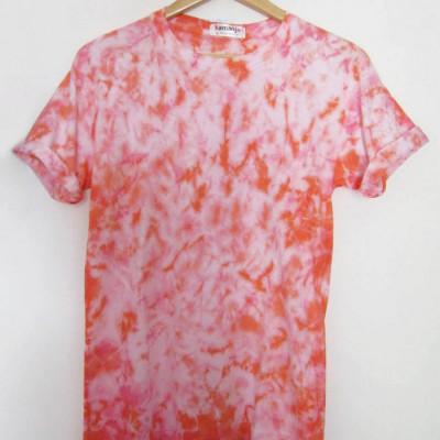 kaos-lengan-pendek-tie-dye-unisex-orange-pink