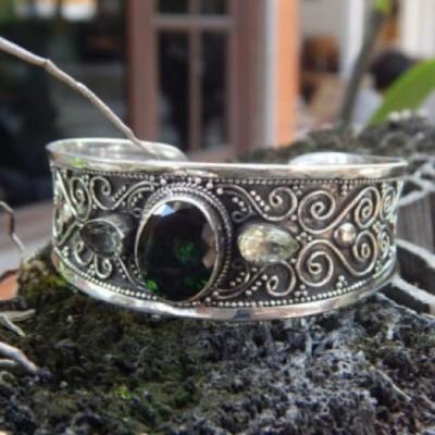 gelang-perak-motif-ukiran-bali-handmade-batu-green-quartz-100056