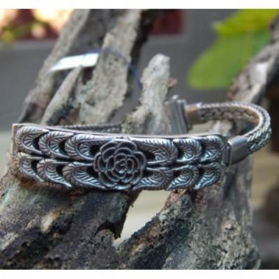 gelang-perak-tulang-naga-motif-bunga-100119