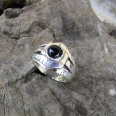 cincin-perak-motif-simple-batu-black-onyx-100326
