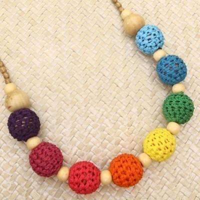 crochet-ball-necklace-rainbow