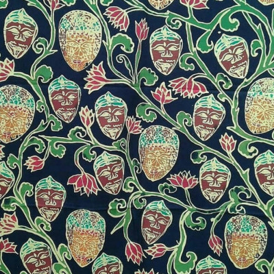 batik-topeng-malang-sulur-teratai-hitam