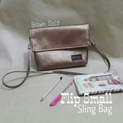 flip-small-sling-bag-brown-gold