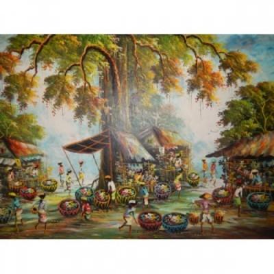 lukisan-tradisional-motif-pasar-tradisional-27370
