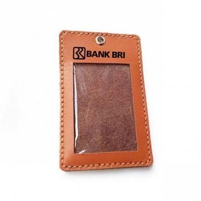 name-tag-id-kulit-asli-logo-bank-bri-warna-tan-tali-id-card.-gantungan-id-card-