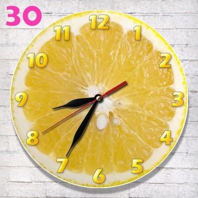 30 Jam Dinding MDF Motif Klasik Jeruk lemon c93a4a5af4