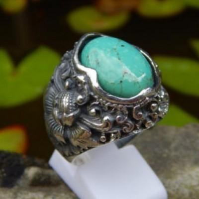 cincin-perak-motif-ukiran-bali-patra-batu-torquise-33319