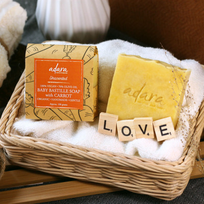 adara-organic-handmade-baby-bastille-soap-with-carrot-unscented