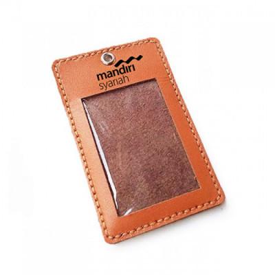 name-tag-kulit-asli-logo-bank-mandiri-syariah-warna-tan-garansi-1-tahun-tali-id-card.-gantungan-id-card-