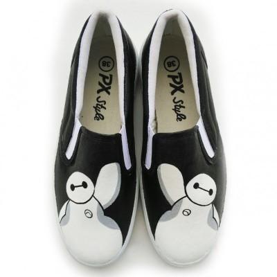 sepatu-lukis-baymax-big-hero-6-hitam