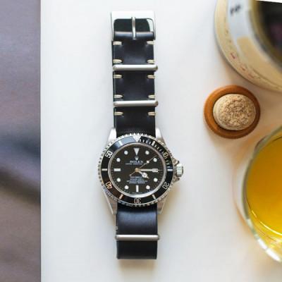 nato-zulu-strap-jam-tangan-kulit-asli-ukuran-22-mm-warna-hitam-garansi-1-tahun