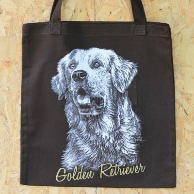 drawing-totebag-golden-retriever