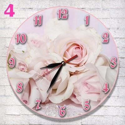 4 Jam dinding Cantik Dekorasi Hiasan Interior Rumah Ruang Tamu kamar Dapur  Motif Bunga Mawar Rose 0a99a77cbc