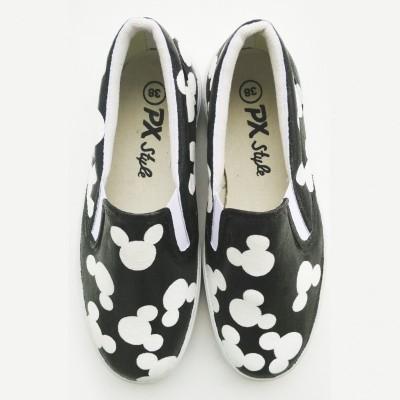 sepatu-lukis-mickey-mouse-pattern