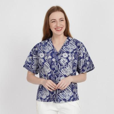 batik-dirga-tegan-atasan-wanita-blouse-batik-blue