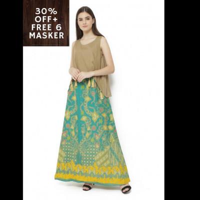 gesyal-long-maxi-dress-katun-tassel-batik-dress-wanita-hijau