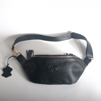 tas-waist-bag-cewek-kulit-sapi-asli-kim-black