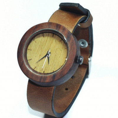 watchwooden-leather-straps