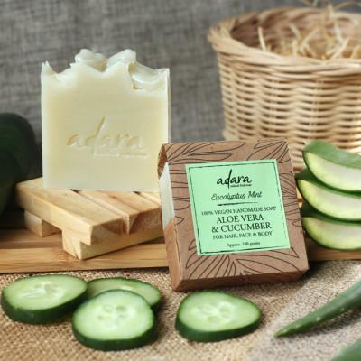 adara-organic-handmade-aloe-vera-cucumber-soap-eucalyptus-mint