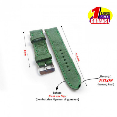 tali-jam-tangan-kulit-asli-size-22mm-warna-hijau-garansi-1-tahun