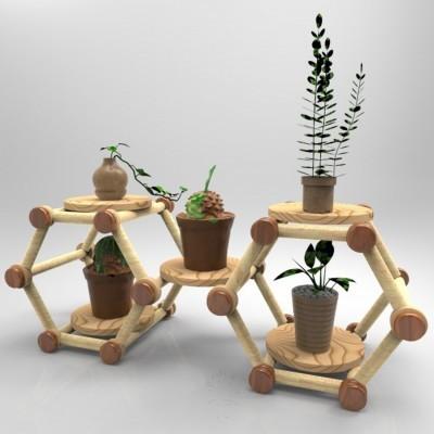 rak-bunga-sekulen-vas-pot-tanaman-hias