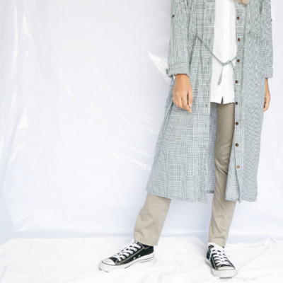 midi-check-dress-worn