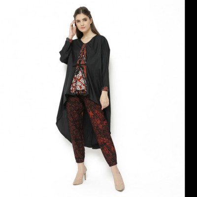 gesyal-blouse-kimono-dress-polos-variasi-batik-atasan-blouse-dress-wanita-hitam
