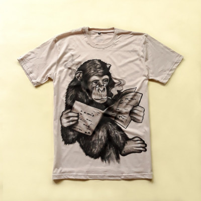kaos-lukis-seri-monyet