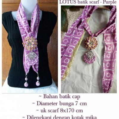 lotus-batik-scarf-kalung