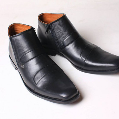 sepatu-boots-zipper-pria-formal-kulit-asli-flavio-avellino-hitam
