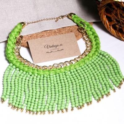 kalung-bohemian-wool-hijau