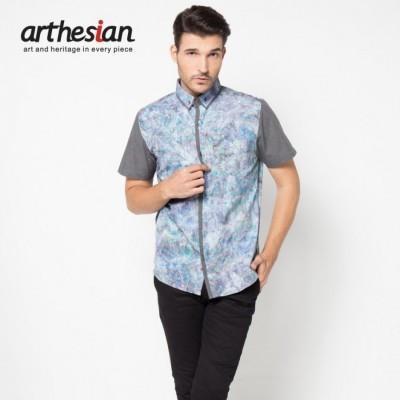 arthesian-kemeja-batik-pria-criss-cross-batik-cap