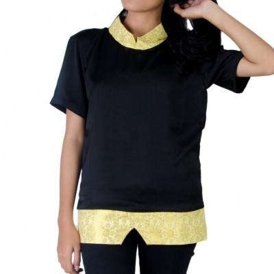 baju-atasan-blouse-wanita-kaos-batik-gold-songket-aralus
