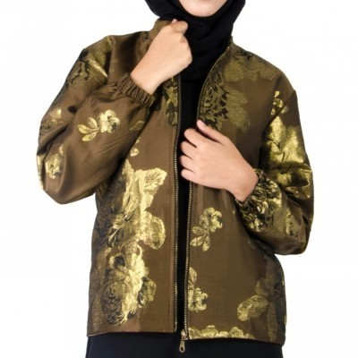 jaket-songket-cokelat-brown-songket-gold