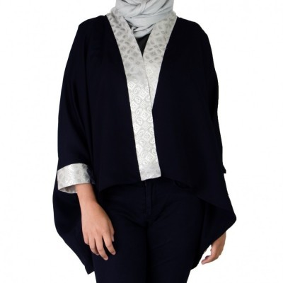 black-loose-outer-cardi-songket