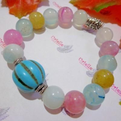gelang-ab87-batu-agate-soft-rainbow-turquois