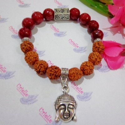 gelang-rudraksha-aa24-batu-red-carnelian-app-buddha