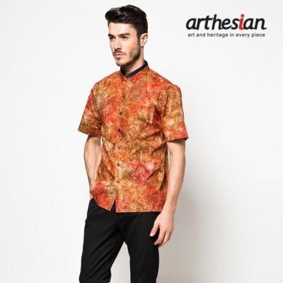 arthesian-kemeja-batik-pria-gerbera-red-batik-cap